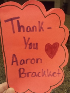 Thank you Aaron Brackket